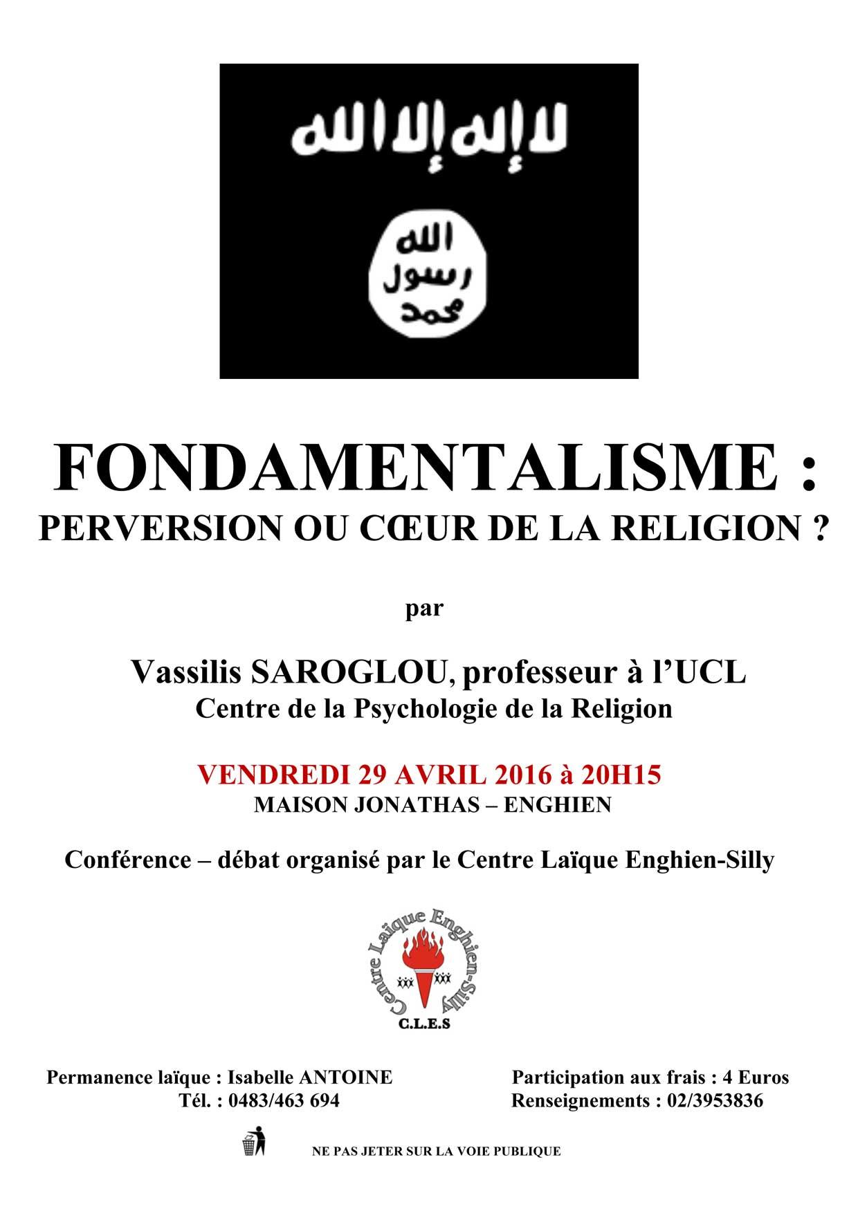 Affiche 2016 - Fondamentalisme