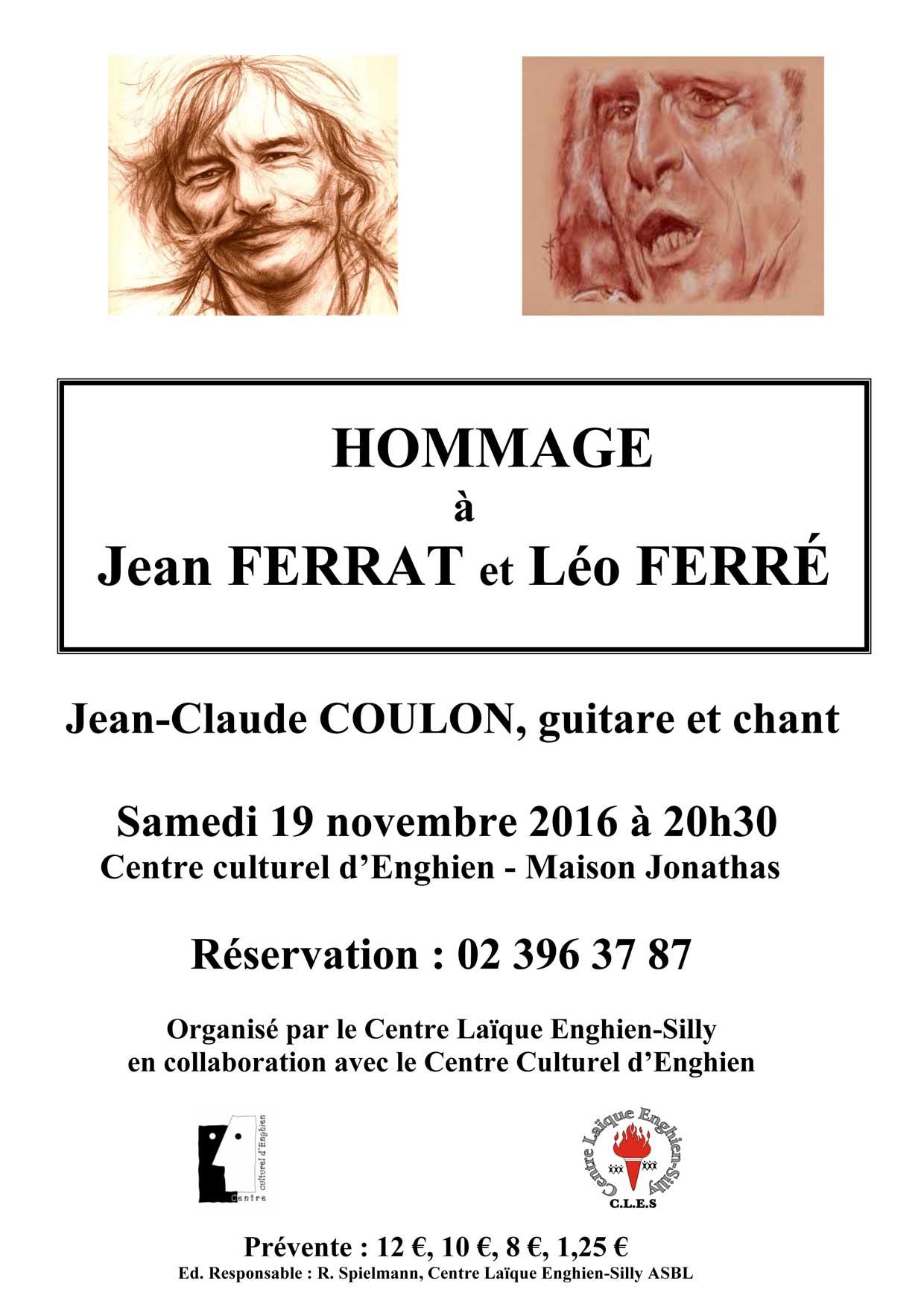 Affiche 2016 - Ferrat Ferré