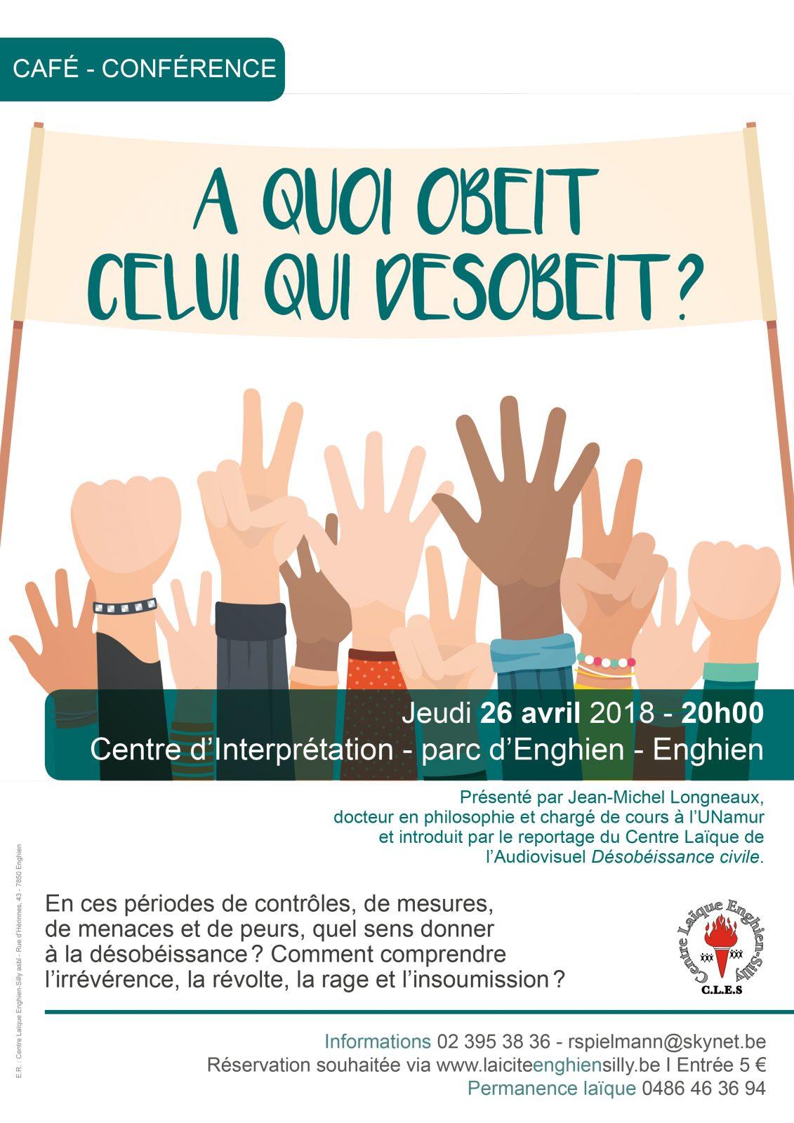 Laïcité Belgique - Centre Laïque Enghien-Silly - Désobéissance